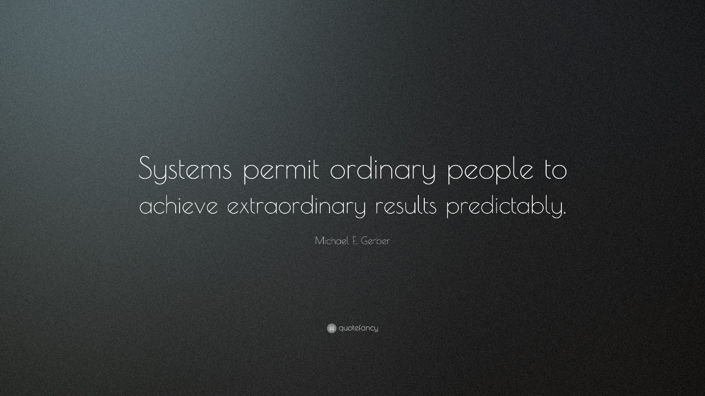 Image result for michael gerber system quotes